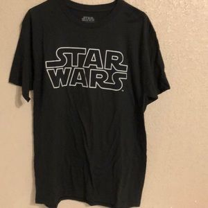 Star Wars Men's black graphic  tee shirt